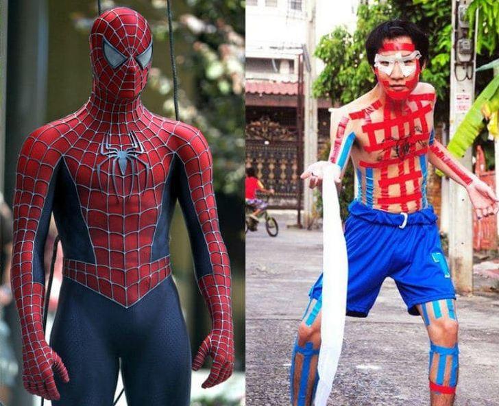 Kwikku, Spiderman sedang beraksi