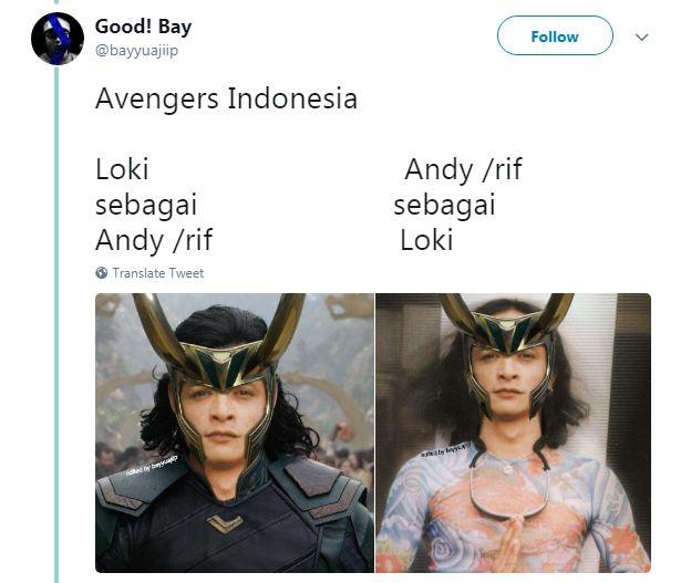 Kwikku, Sosok Loki tak pernah lepas dari aura gondrong dan bandel kan Pasti sangat cocok kalo di perankan oleh Andy