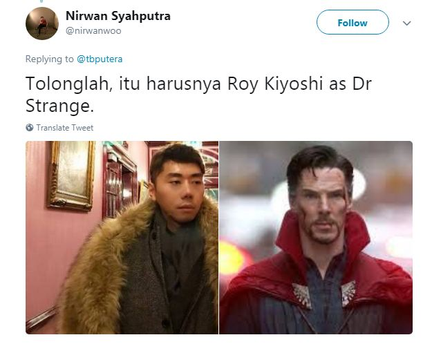 Kwikku, Ayo kita vote guys Siapa yang setuju kalau Doctor Strange di perankan oleh Roy Kiyoshi penulis angkat tangan