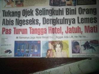 Kwikku, Tragis banget kisah si tukang ojek Kasian Tapi kok judul beritanya kocak banget gitu yah