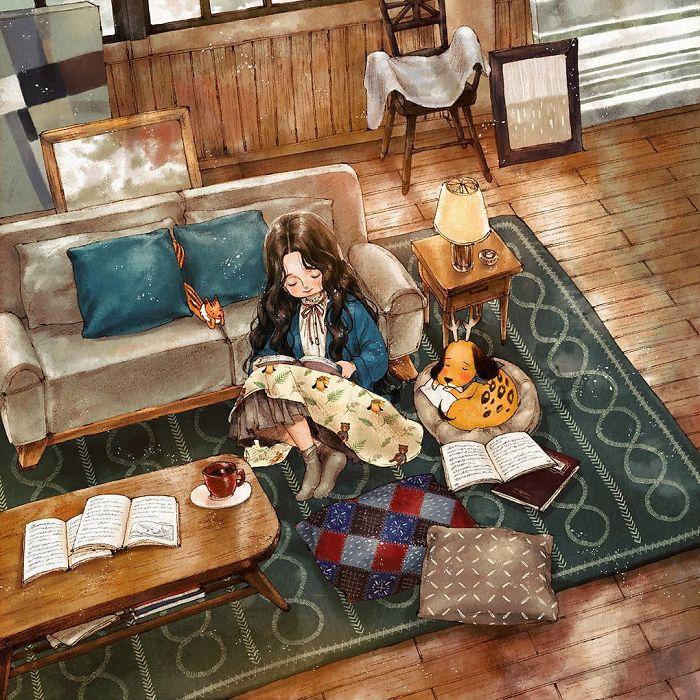 Kwikku, Duduk di ruang tamu sambil baca novel juga bisa jadi salah satu alternatif