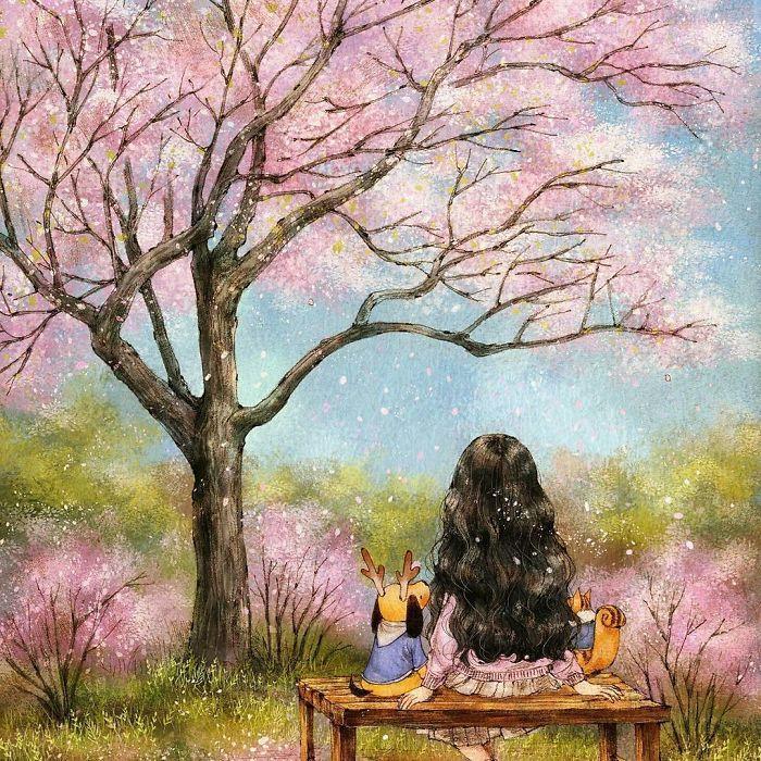 Kwikku, Duduk dibawah pohon sambil menikmati pemandangan daundaun yang berguguran juga sangat menyenangkan loh