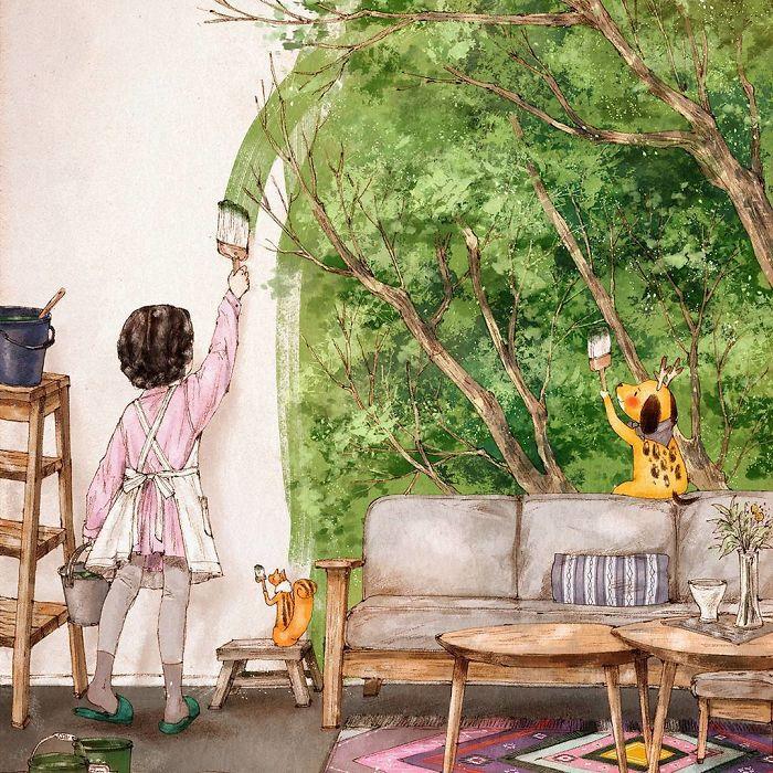 Kwikku, Gak jarang cewek yang suka mendekor kamarnya ketika sedang menikmati kesendiriannya
