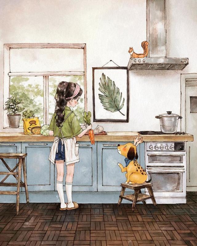 Kwikku, Bereksperimen di dapur atau belajar masak juga bisa jadi salah satu pilihan terbaik ketika sedang galau