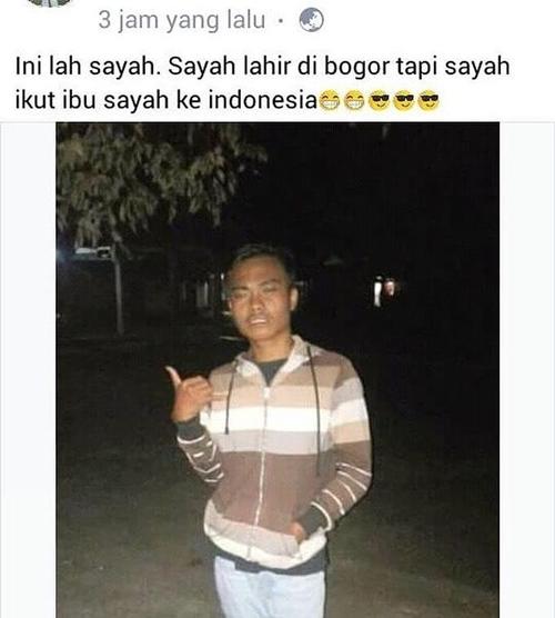 Kwikku, Ngomongnya lahir di bogor ya berarti normalnormal aja kalo lu masih di indonesia jang Jangan bikin sensasi deh wkwkwk