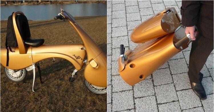 Kwikku, Kini sudah ada scooter yang bisa di ubah menjadi bentuk tas lho
