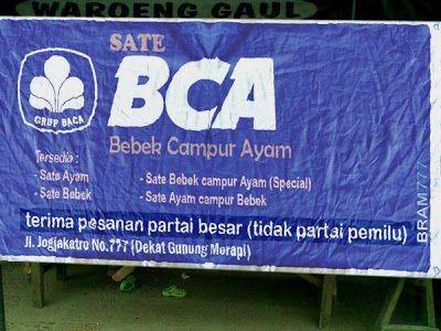 Kwikku, Ternyata BCA bukan hanya berkaitan dengan uang saja tetapi makanan juga guys