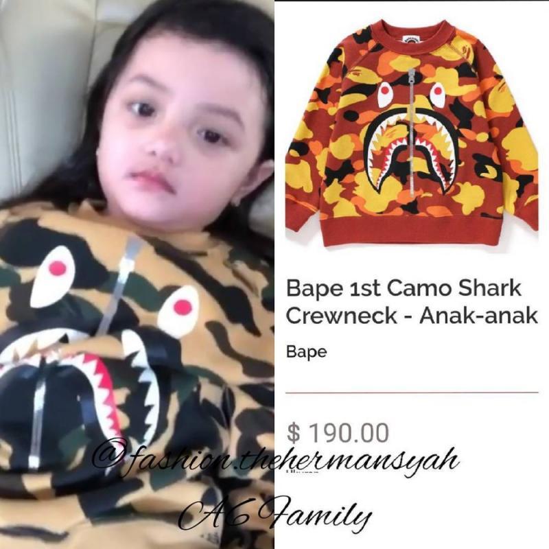 Kwikku, Gak hanya Arsya Hermansyah aja yang punya koleksi item fashion branded mahal Kakaknya Arsy Hermansyah juga punya koleksi sweater keluaran Bape Kids yang harganya Rp  juta