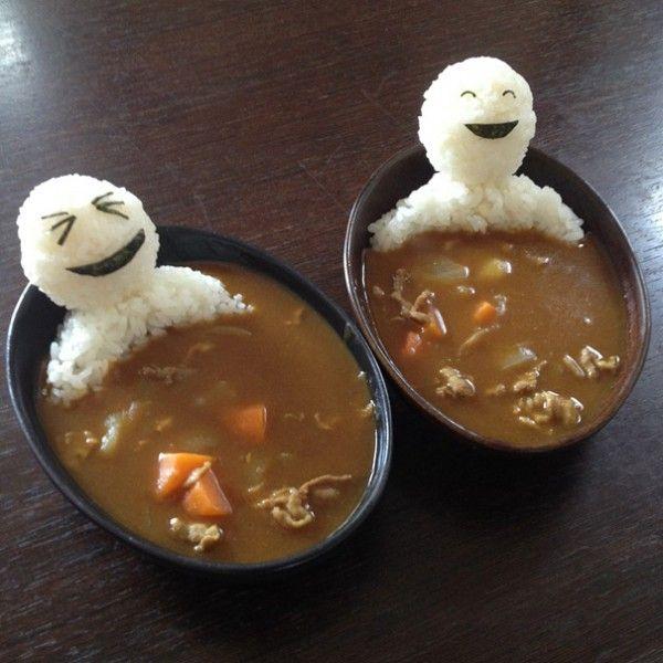Kwikku, Karakter lucu nasi putih