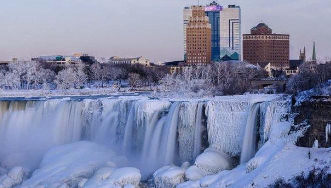 Kwikku,  Air terjun Niagara beku Amerika Serikat
