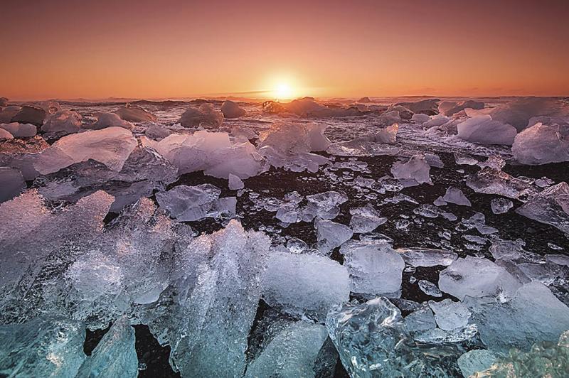 Kwikku, Es kutub mencair Antartika