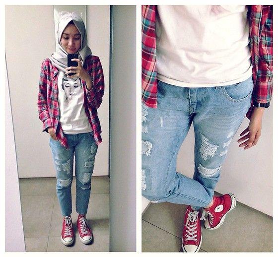 Kwikku, Gunakan Jeans dan Kemeja Flanel