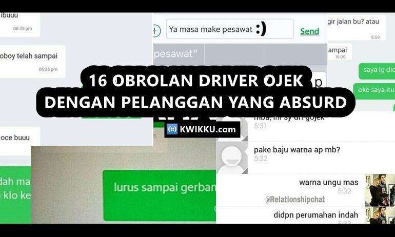 Percakapan Driver Ojek Online dan Penumpang yang Absurd dan Bikin Ngakak
