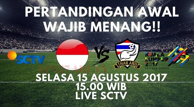rediksi Indonesia vs Thailand 15 Agustus 2017 Leg Pertama Sea Games 2017