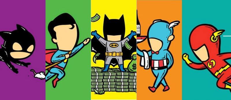 Bikin Gemes 10 Ilustrasi Ini Nunjukin Kerjaan Sampingan Superhero