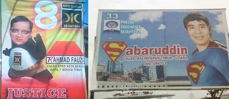 Politik Mulai Menggila Ini 10 Papan Reklame Partai Paling Konyol di Indonesia