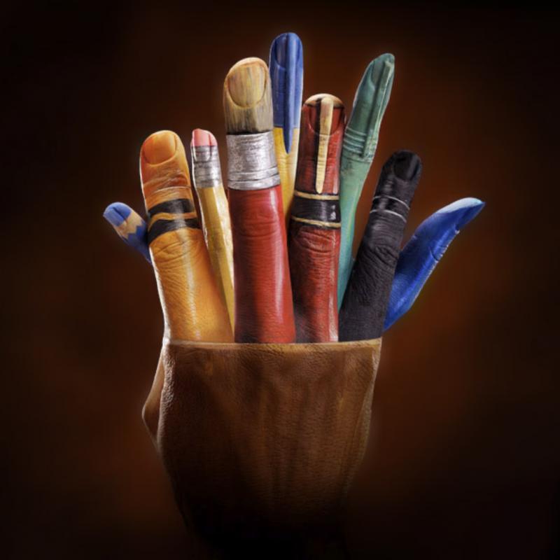 Bikin Gagal Fokus Seniman Ini Ciptakan Ilustrasi Dari Gerakan Tangan