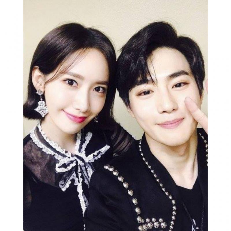 Saling Support Ini Bukti Friendship Goals Ala Yoona SNSD dan Suho EXO