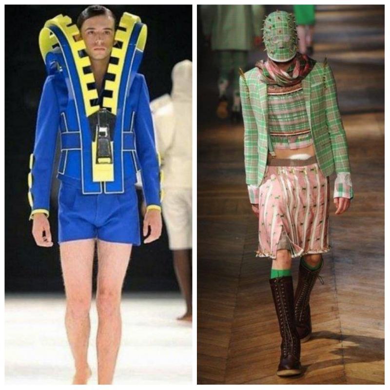 8 Fashion Item Kelewat Nyentrik Peragaan Busana Berani Pakai