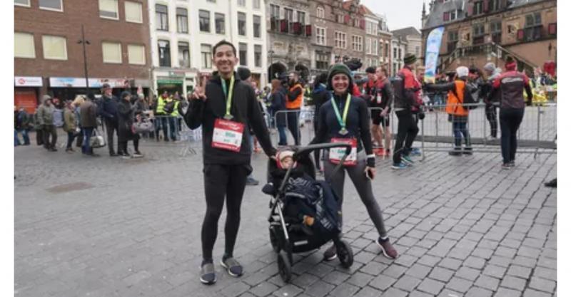 Ikuti Marathon Di Belanda Andien amp Ippe Ajak Anak Ikut Serta