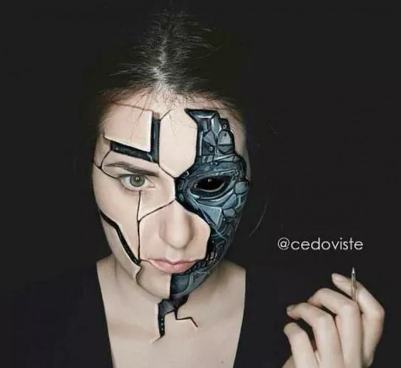 Buat Ilusi dari Make Up Kreator Ini Ciptakan Karya Menakjubkan