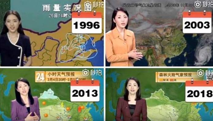 22 Tahun Bawakan Berita Ramalan Cuaca Presenter di Cina Ini Tidak Menua Sama Sekali