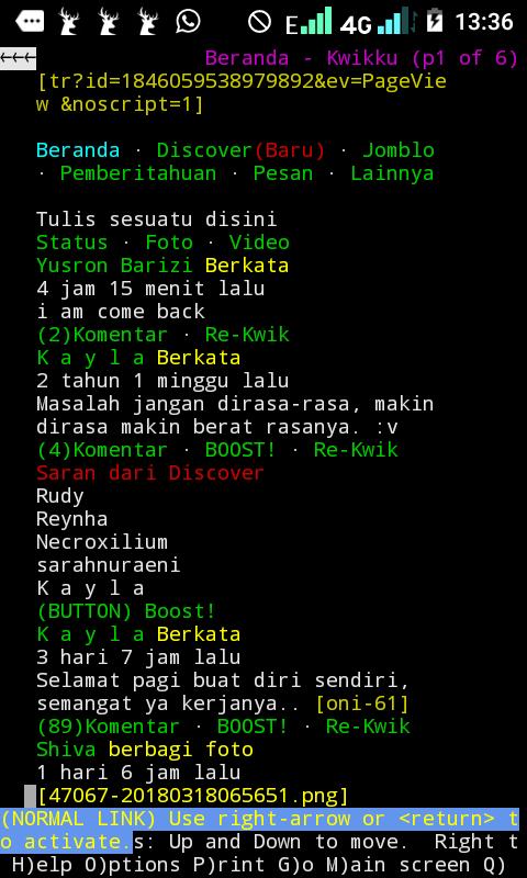 beranda mkwikku kalo d akses via termux terminal linux