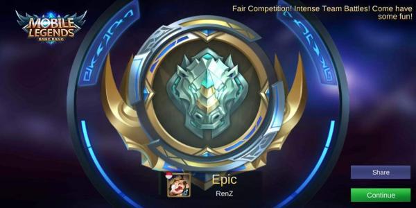 Selebrasi pertama kali nyampe ke rank ini  hahaha
