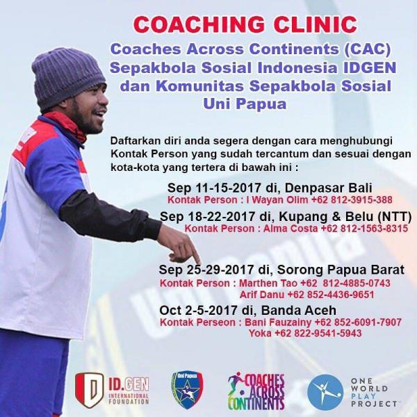 Coaching Clinic Uni Papua with CAC
