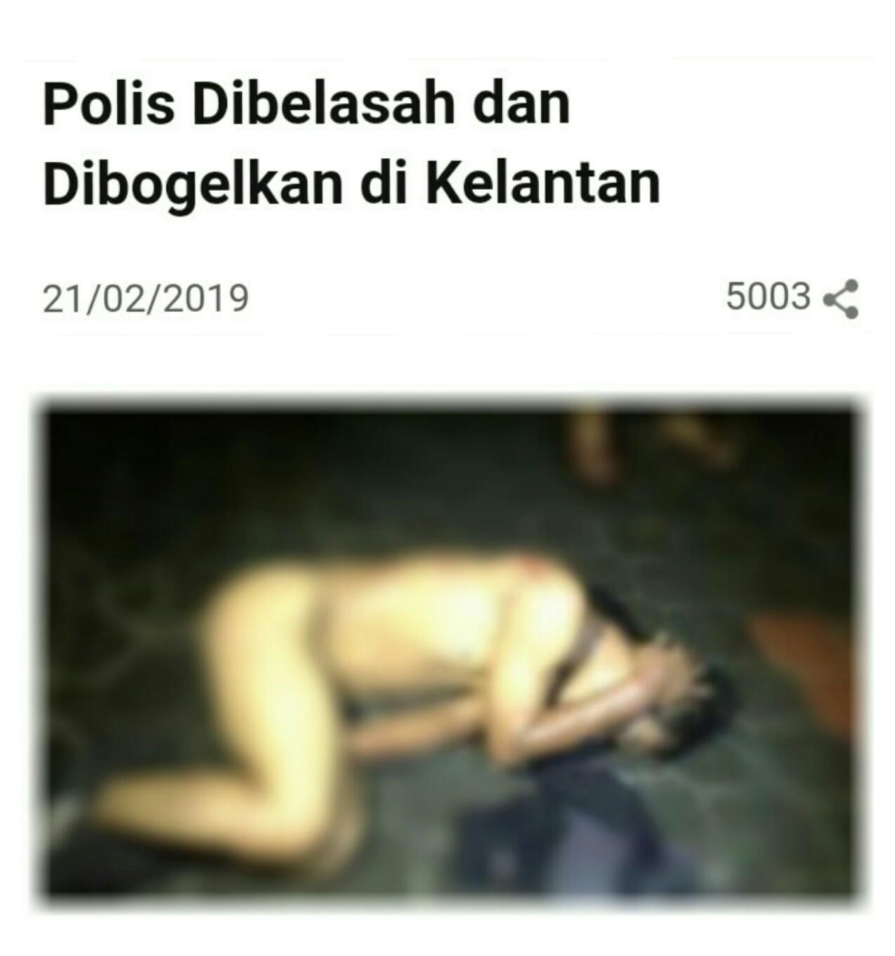 Akibat Merompak Seorang Polis Dipukul dan Dibogel di Kelantan  SEORANG lelaki yang dipercayai seorang anggota polis menghadapi detik pahit dalam hidupnya apabila dia ditangkap akibat merompakhttplix6pohrxyzc5IUaakbX13Nk9Yyl3T5phpltn9321